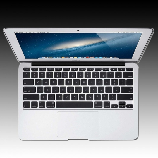 Apple MacBook Air 11-inch Model: A1465, 1.3GHz dual-core Intel Core i5 processor, Turbo Boost up to 2.6GHz, Intel HD Graphics 5000, 4GB memory, 128GB flash storage