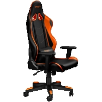 Canyon Gaming chair, PU leather, Original foam and Cold molded foam, Metal Frame, Butterfly mechanism, black+Orange.