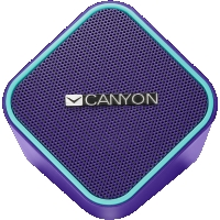 Canyon wired stereo Speaker, 1.2m cable with USB2.0 & 3.5mm audio connector, purple(blue stripe)